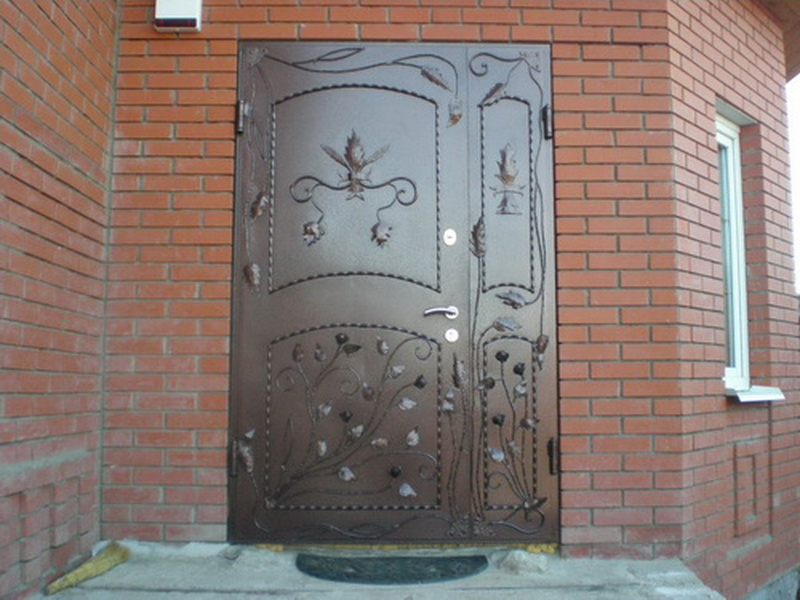 Входные двери из металла своими руками фото