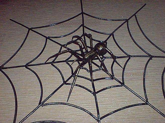 Кованый паук своими руками 177