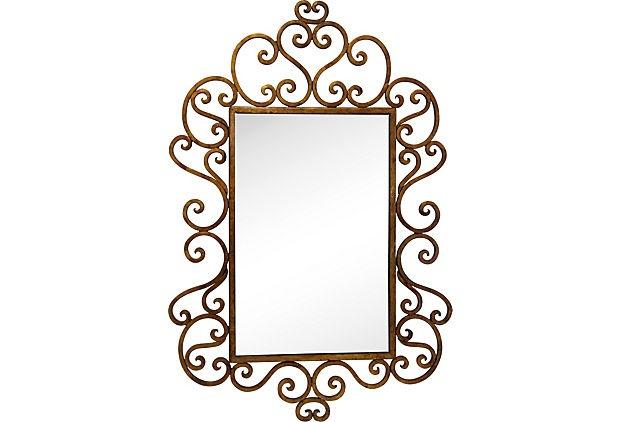 Зеркало в кованой раме своими руками 773