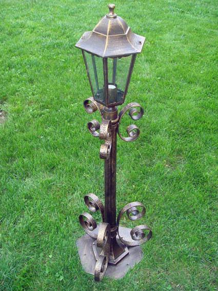 Кованые фонарные столбы своими руками 79
