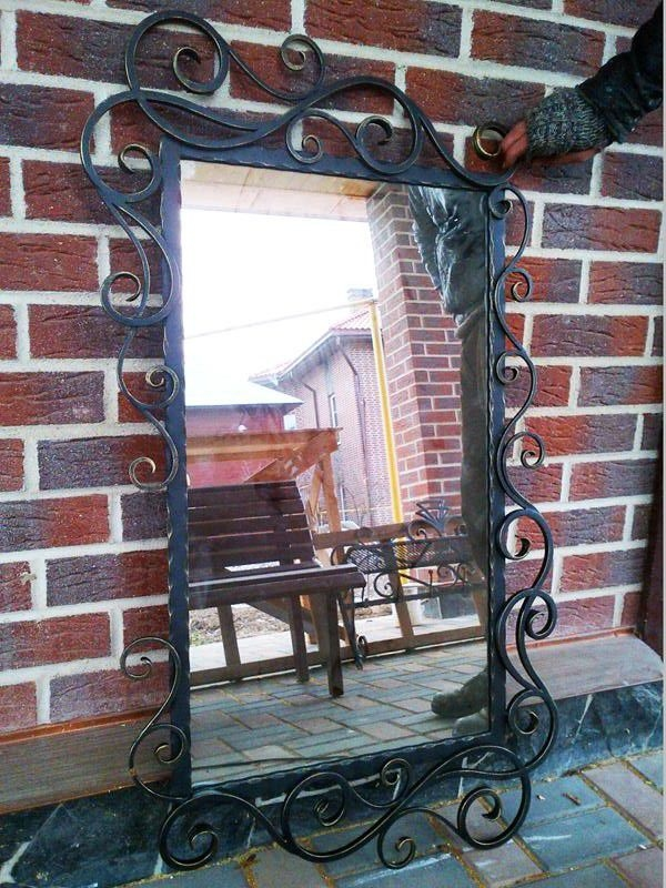 один важнейших зеркало в кованой раме фото только