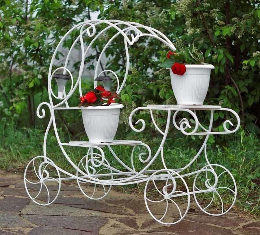 кованые садовые цветочницы фото русском