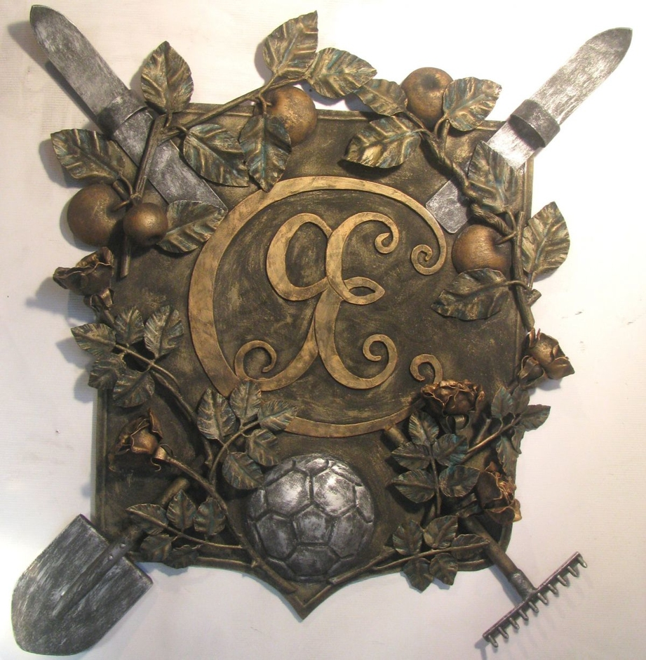 кованый герб семьи фото изготовления